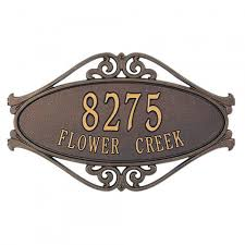 Decorative House Numbers Similiar House Number Address Plaques Keywords