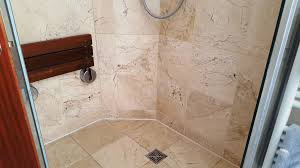 marble shower enclosure tiles after cleaning in beddau