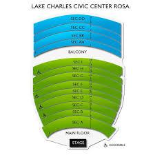 Lake Charles Civic Center Arena Seating Chart Rosa Hart Theatre Lake Charles Civic Center 2019 Seating Chart