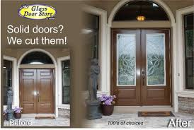 want glass door inserts installed in your front with plans