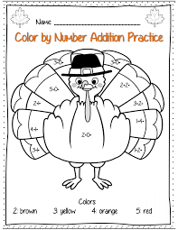 Color By Number Thanksgiving Coloring Pages - GetColoringPages.com