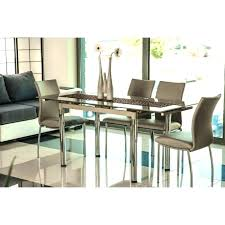 iii beige glass extendable dining table 6 chairs extending and