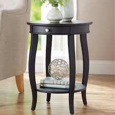 Better Homes & Gardens Round Accent Table with Drawer, Multiple ...