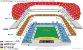 Rihanna Diamonds World Tour 2x Seated West Stand Premium