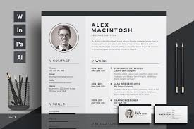 Indesign Resume Template Photos Graphics Fonts Themes