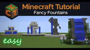 Minecraft Water Fountain Designs 4 Fancy Fountain Designs Minecraft Tutorial