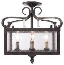 semi flush lighting bronze. valencia semi-flush (convertible) in fired bronze with seeded glass traditional-flush semi flush lighting o