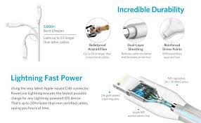 apple lightning cable wiring diagram apple image amazon com anker powerline lightning 10ft apple mfi certified on apple lightning cable wiring diagram