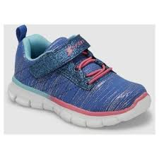 skechers shoes for girls. toddler girls\u0027 s sport by skechers footie performance athletic shoes - blue for girls
