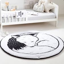 hiltow round rugs rug nursery rugs cute fox design home decoration area rugs be