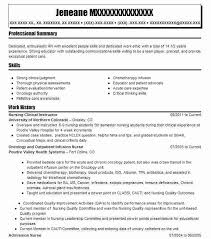 Nurse Educator Resume Nursing Clinical Instructor Resume Sample Livecareer