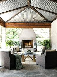 outdoor patio fireplace ideas design