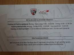 Stadtquartier q 6 q 7. Fc Ingolstadt 04 Schanzer Fanshop Gutschein 15 Rabatt Eur 1 90 Picclick De