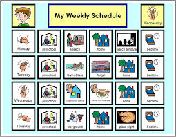 weekly schedule example visual schedules
