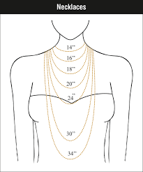 Necklace Chain Length Chart Jewellery Sizing Charts