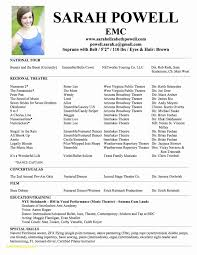 Female Acting Resume Template Inspirational 28 Audition Resume