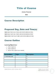 Course Proposal Template Course Proposal Template Career Minded
