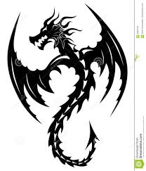 Drago Tribale Del Tatuaggio Illustrazione Vettoriale Illustrazione