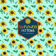 Sunflower Pattern Adorable Colorful Seamless Sunflower Pattern Vector Download