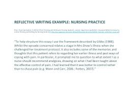 reflecting on reflective writing analytics lak  reflective writing example nursing