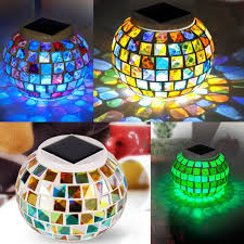 Ful Led Solar Garden Light With Top Quality Solar Panel  Mosaic Solar Mosaic Garden Lights