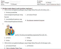 By guru arrasyid posted on august 31 2020. 100 Contoh Soal Uts Pts Tematik Kelas 6 Sd Mi Semester 1 Kurikulum 2013