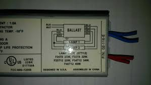 how to wire a replacement ballast with different wiring? the home t12 ho ballast wiring diagram T12 Ballast Wiring Diagram #15