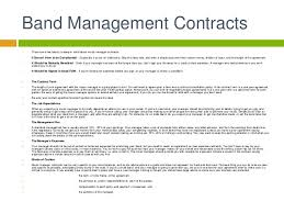 music management contract music business artist management contracts