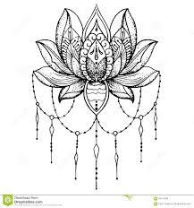 эскиз лотоса татуировки буддизм иллюстрация штока иллюстрации