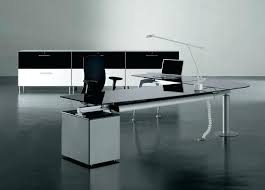 modern style office. Glass For Desk Modern Style Office With Drawers .