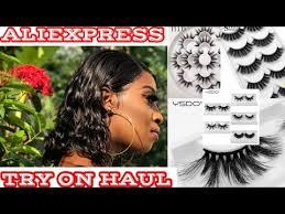 ALIEXPRESS <b>MINK</b> LASHES TRY ON HAUL 2019  Annakay Williams