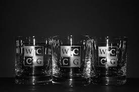 custom engraved whiskey glasses with company logo