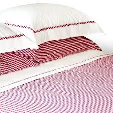 raspberry red gingham duvet cover