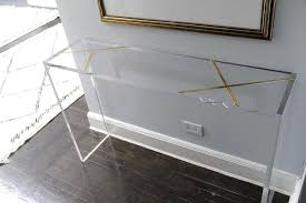 lucite console table. Lucite Console Table C