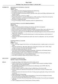 Sap Functional Analyst Resume Samples Velvet Jobs