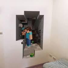Minecraft 3d Creeper Fathead Style Wall Art Decal Vinyl