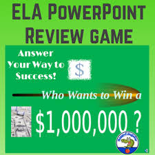 Who Wants To Win A Million Dollars Ela Gameshow Powerpoint