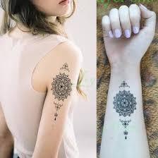 Vodotěsný Dočasné Tetování Mandala Klasický Totem Pro Dívky ženy
