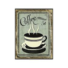 vintage wall decor w coffee design retro 12 x 9 coffee for 5 cents metal sign vintage tin signs for coffee unique coffee sign for mom sister