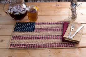 Patriotic Patch Quilted Placemat - 12