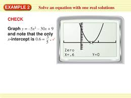 write a quadratic equation with only one solution 5
