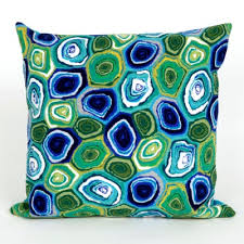 Green outdoor pillows & cushions