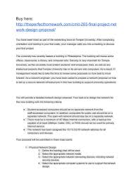 Network Design Paper Cmit 265 Final Project Network Design Proposal