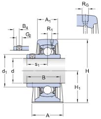 Pedestal Bearing Size Chart Ball Bearing Plummer Block Units Syj 60 Tf