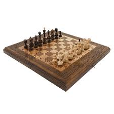 Handmade Wooden Board Games Walnut Handmade Armenian Chess Set 10000 in 100 backgammon checkers High 65