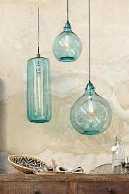 turquoise pendant lighting. two hanging as bedside lights salon bleu glass demijohn pendant beautiful coastal inspired turquoise lighting