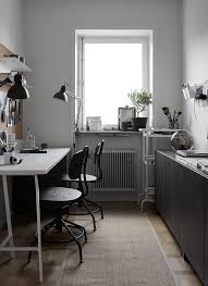 Ikea home office design Workspace Monochrome Home Office Furnished With Ikea Alrio Home Office Archives Alrio Alrioinfo