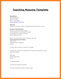 How To Write Resume For It Job With No Experience Good Teaching