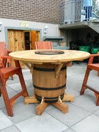 winsome wine barrel furniture wine barrel table my husband just finished making wine barrel outdoor furniture