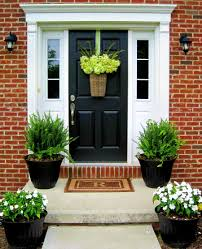 Image of: Custom Front Door Planters